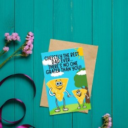Cheesily The Best Dad - Cheese Themed Greetings Card